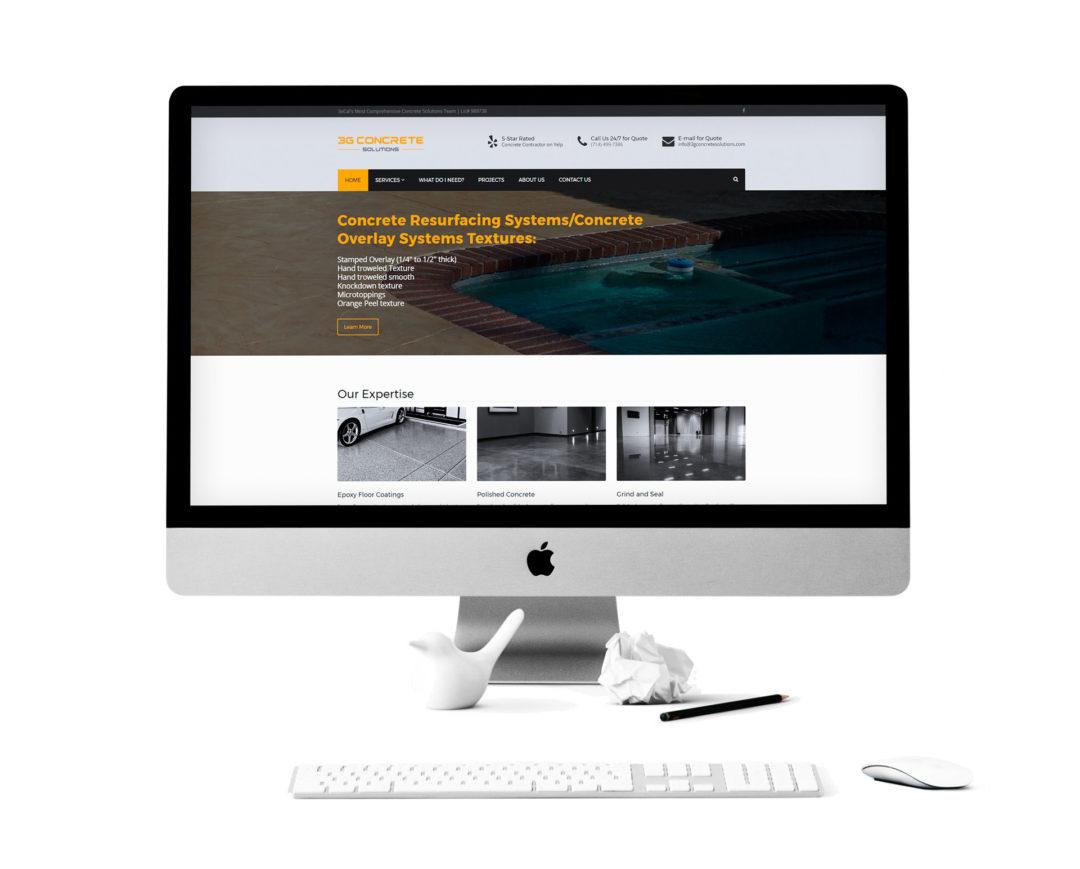 3G Concrete Solutions Website
