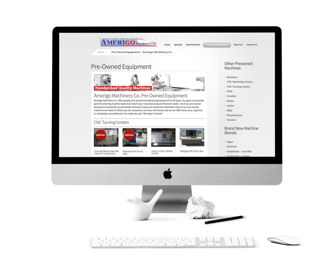 Amerigo Machinery Website