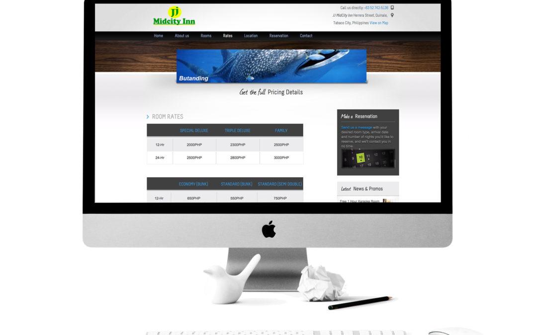 JJ Midcity Inn Website
