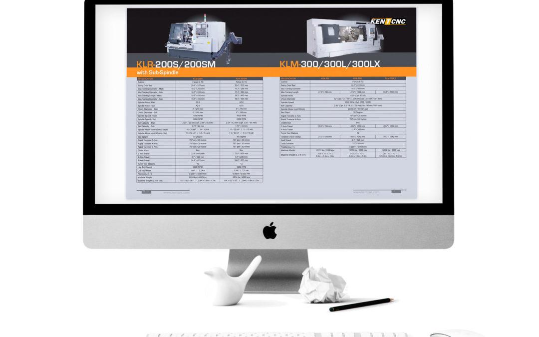 Kent CNC Product Line Brochure