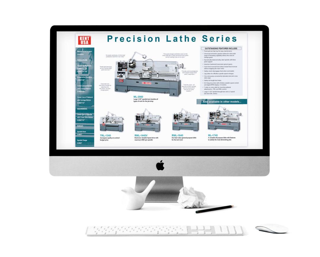 Kent USA Lathe Product Line Brochure