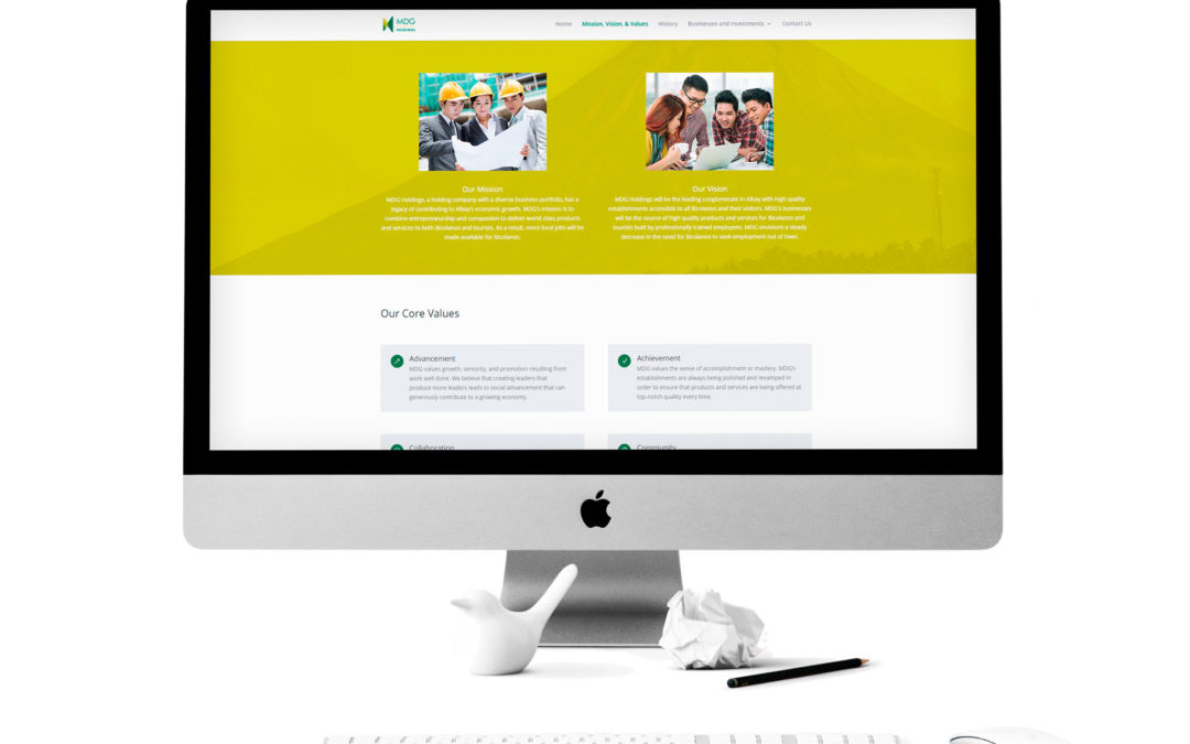 MDG Holdings Website